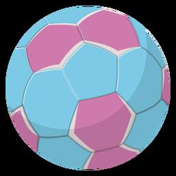 Ilustración de balonmano azul