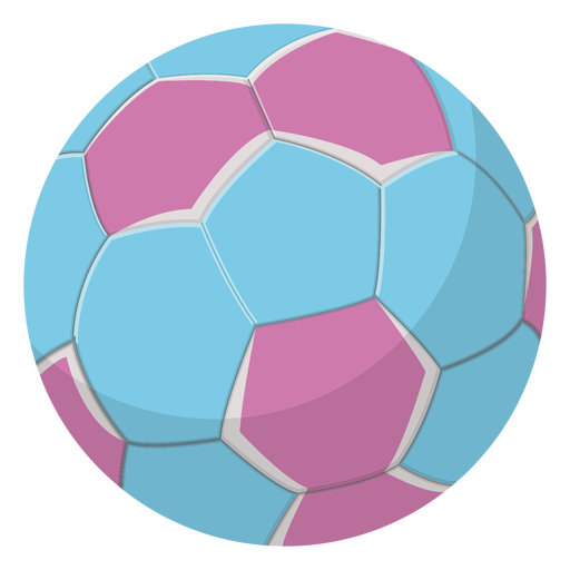 Blue handball illustration