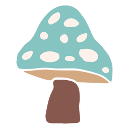 Blue mushroom flat