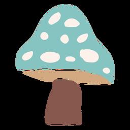Cogumelo azul liso