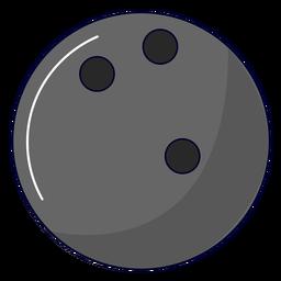 Ilustración de bola de boliche