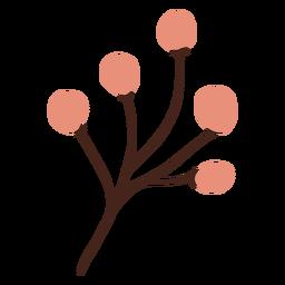 Branch buds flat