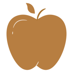 Brauner Apfel flach