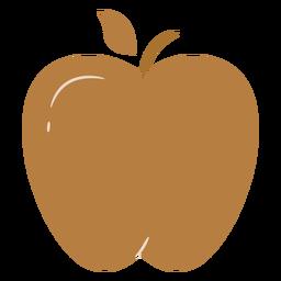 Brown apple flat