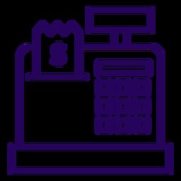 Icono de trazo de caja registradora