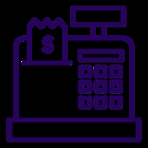 Cash register stroke icon