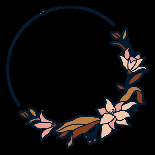Marco floral circular