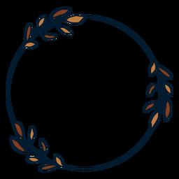 Quadro de galhos circulares