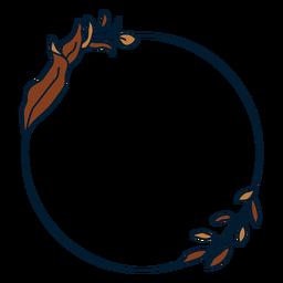 Circular floral frame