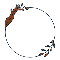 Quadro floral circular