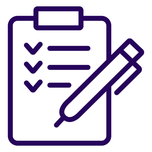 Clipboard stroke icon Transparent PNG