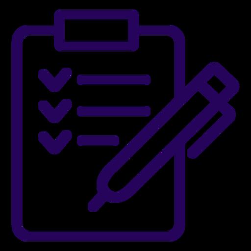 Clipboard stroke icon