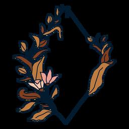 Diamond floral frame frame