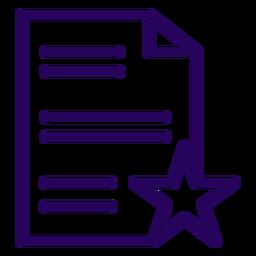 Icono de trazo favorito del documento