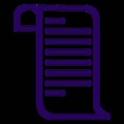Icono de trazo de documento