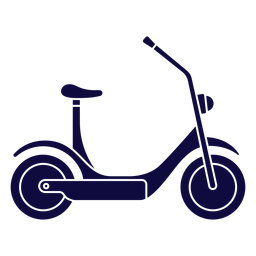 Electric scooter blue