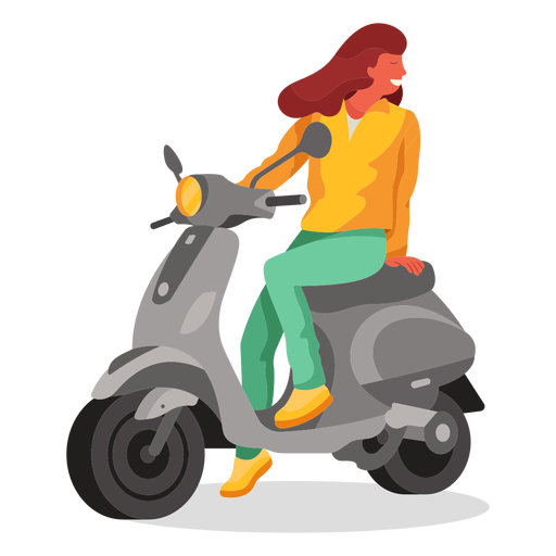 Electric scooter flat character