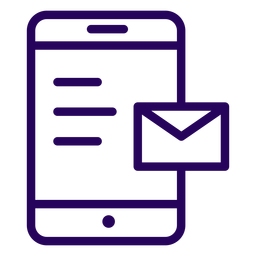Email cellphone stroke icon