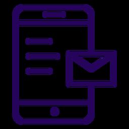 Ícone de traço de telefone celular