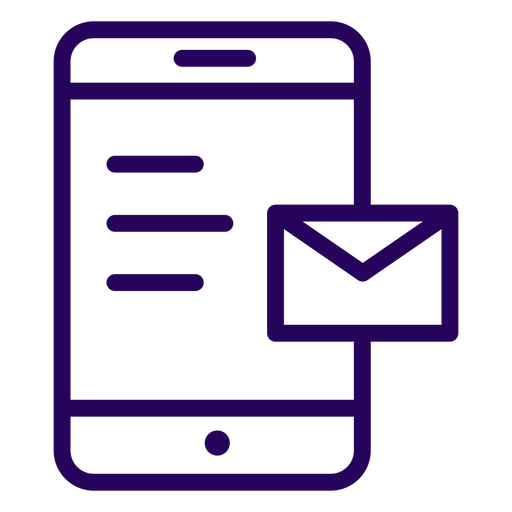 Email cellphone stroke icon Transparent PNG