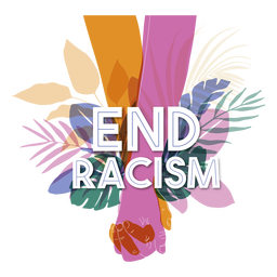 End racism lettering