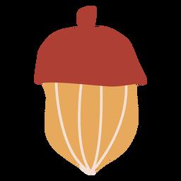 Bolota de outono plana