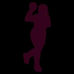 Silhueta de pessoas jogador de handebol feminino