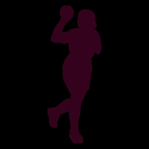 Silueta de personas de jugador de balonmano femenino