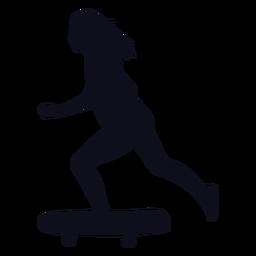 Female skater silhouette skater