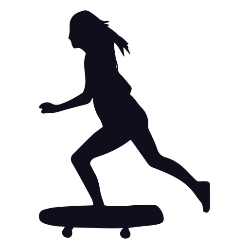 Patinadora femenina silueta patinadora