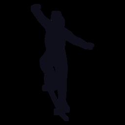 Silueta de trucos de patinador femenino