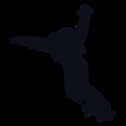 Trucos femeninos silueta de patinaje