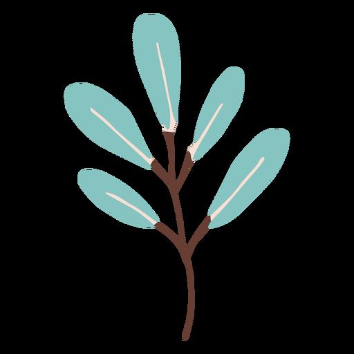 Flat blue branch