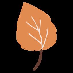 Flat orange leaf