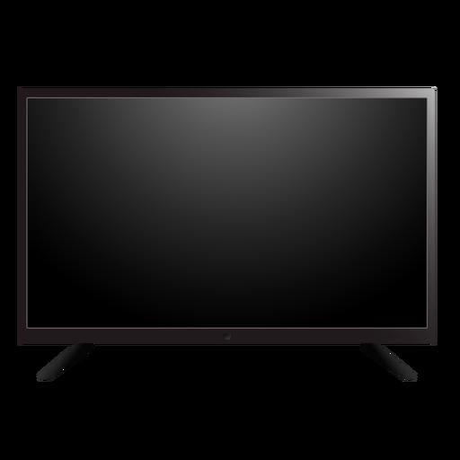 Ilustración de pantalla de tv plana