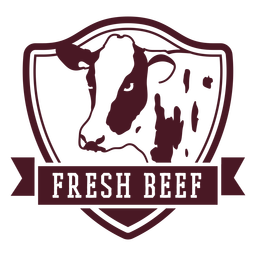 Distintivo de vaca bovina