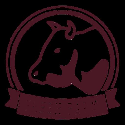 Cow farm badge