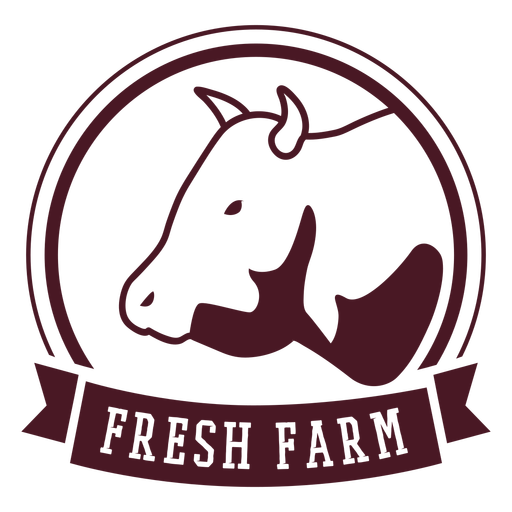 Insignia de granja de vacas