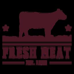 Design de distintivo de carne de vaca