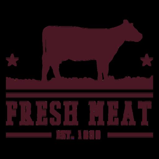 Design de distintivo de carne de vaca Transparent PNG