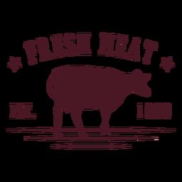 Insignia de vaca de carne fresca