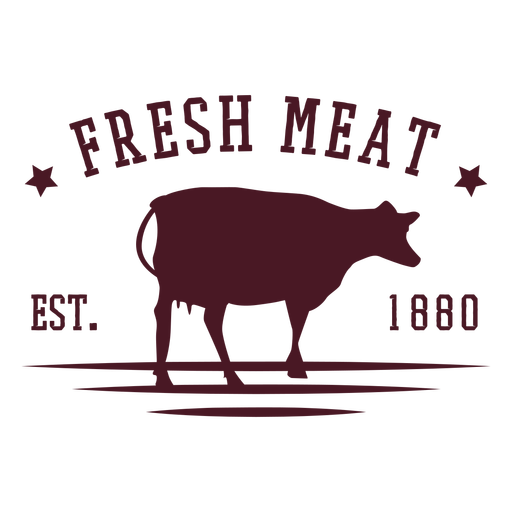 Meat cow badge design