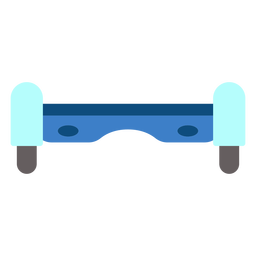 Front view hoverboard flat