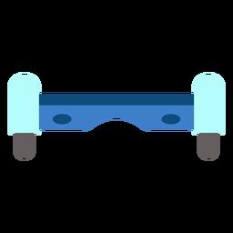 Vista frontal aerotabla plana