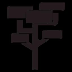 Geometric tree black