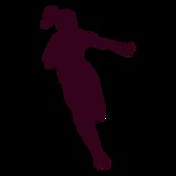 Chica balonmano jugador personas silueta
