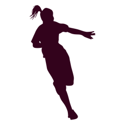 Girl handball player people silhouette