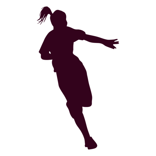 Chica jugador de balonmano personas silueta