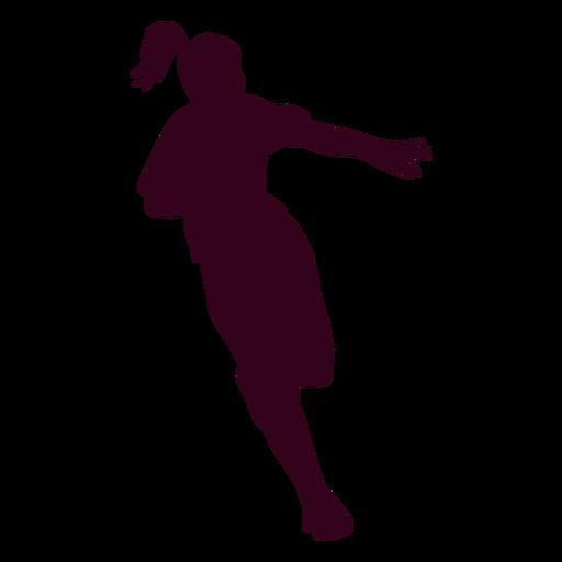 Girl handball player people silhouette