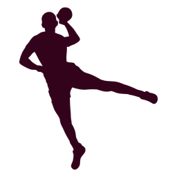 Girl handball silhouette